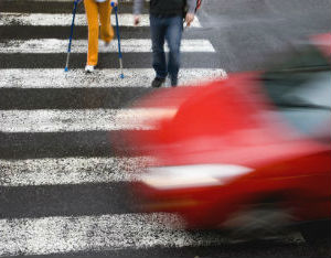 RI liability in car-pedestrian accident